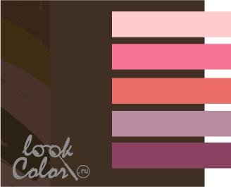 сочетание цветов коричневый и розовый
