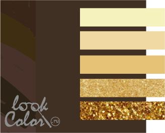 сочетание цветов коричневый и желтый
