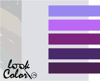 сочетание цветов бело-серый и фиолетовый