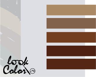 сочетание цветов бело-серый и коричневый