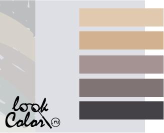 сочетание цветов бело-серый и нейтральный