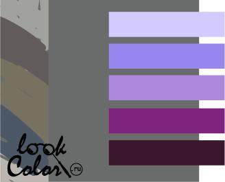 сочетание цветов серый и фиолетовый