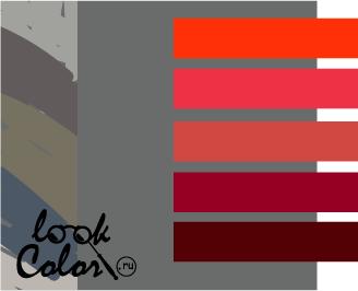 сочетание цветов серый и красный