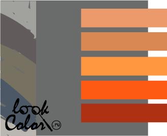 сочетание цветов серый и оранжевый