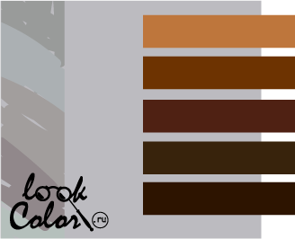 сочетание цветов светло-серый и коричневый