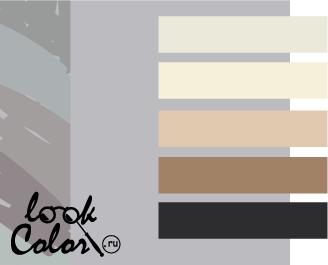сочетание цветов светло-серый и нейтральный