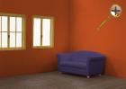 Темно-оранжевый цвет в интерьере
