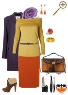 Сочетание темно-оранжевого цвета в гардеробе
