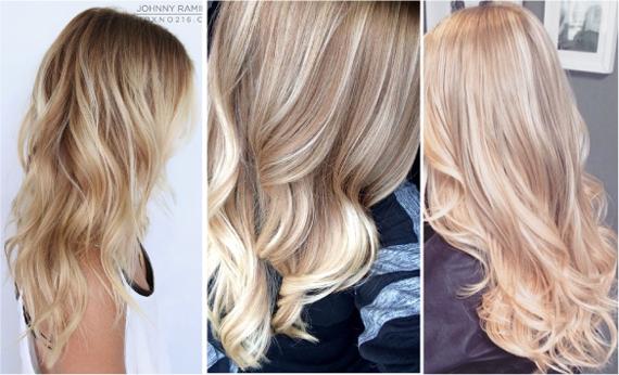 Модный окрас блондинки