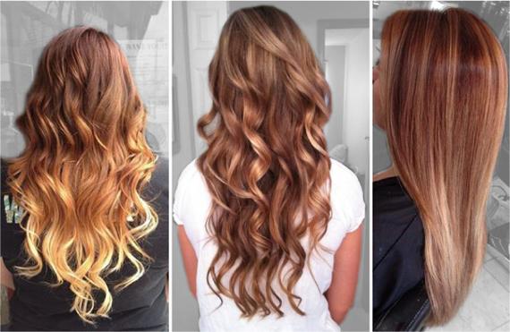 Модные цвета волос 2015. Мягкая медь с золотым акцентом