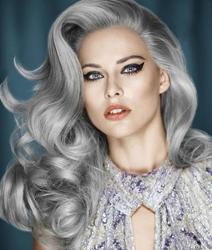 Модные цвета волос 2015. Серый цвет