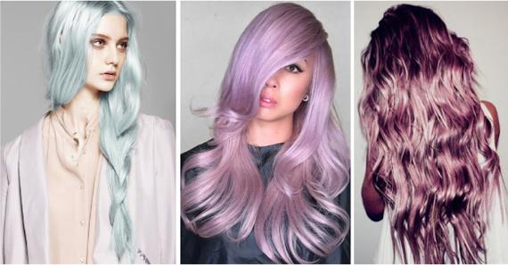 Пастельный розовый цвет волос