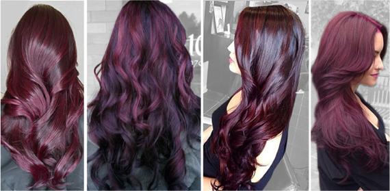 Красно фиолетовый цвет волос