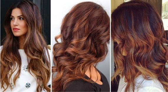 теплый каштановый цвет волос фото