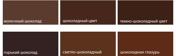оттенки шоколадного