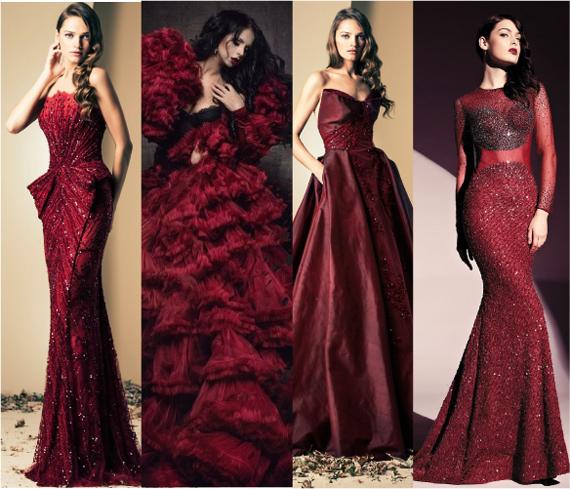 Платье цветом темно бордовый