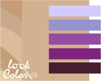 сочетание бежевого с фиолетовым