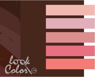 шоколадный с розовым