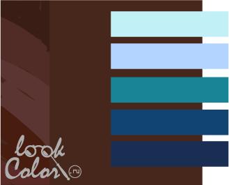 шоколадный с синим