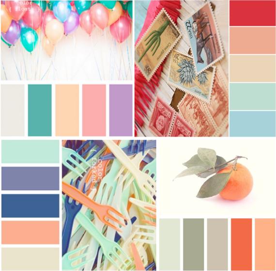 С каким цветом сочетается персиковый цвет
