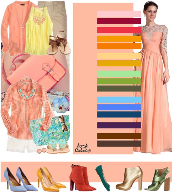 Персиковый цвет. Сочетание с персиковым цветом