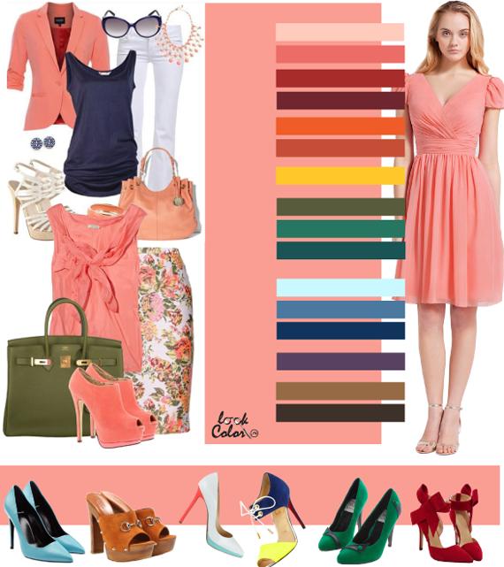 Розово-персиковый цвет. Сочетание с персиковым цветом