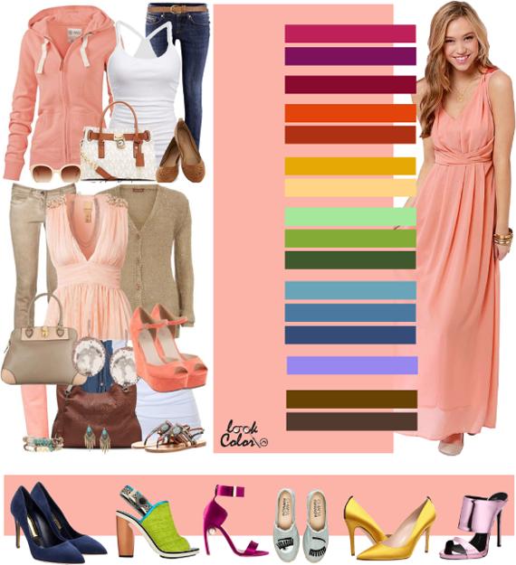 Криветковый цвет. Сочетание с персиковым цветом