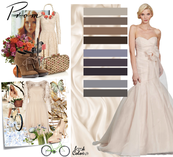Платье коричневая айвори