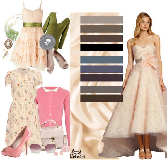 Свадебное платье айвори фото. Сочетания цвета