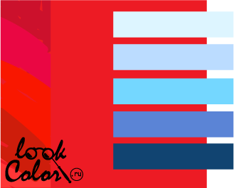 сочетание цветов красный и синий