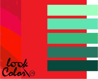 сочетание цветов красный и зеленый