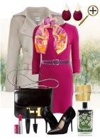 Амарантовый цвет в одежде