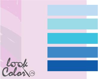 сочетание цветов бело-лиловый и синий