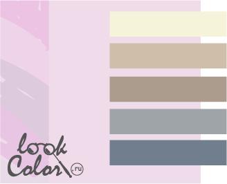 сочетание цветов бело-лиловый и серый
