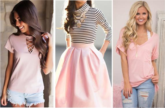 Нежно розовый цвет в одежде