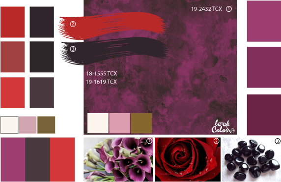 Темно-розовый цвет, сочетание цветов розовый
