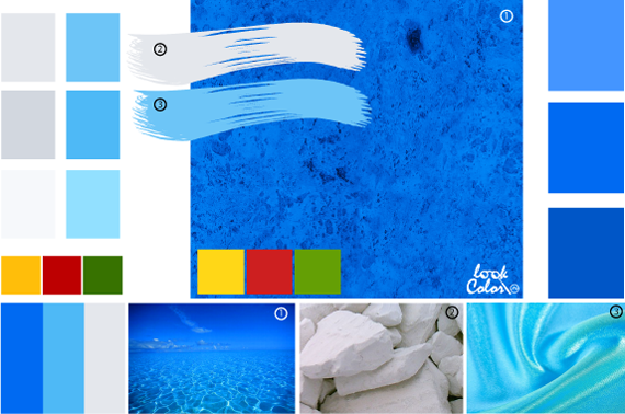 Ярко синий цвет. Сочетание с ярко-синим цветом