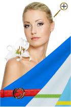 Ярко-синий цвет для цветотипа весна