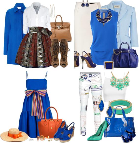 Ярко-синий цвет для цветотипа зима