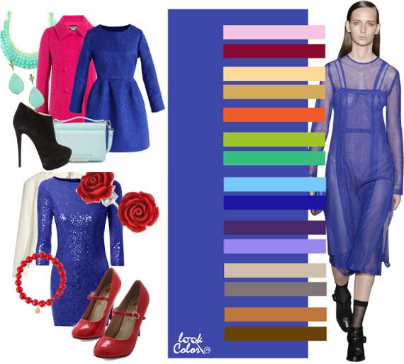 Сине-фиолетовый цвет сочетается в одежде фото