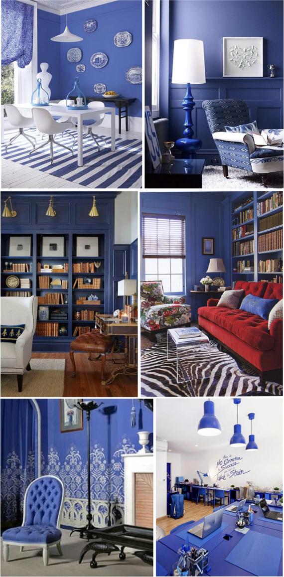 Сине-фиолетовый цвет в интерьере