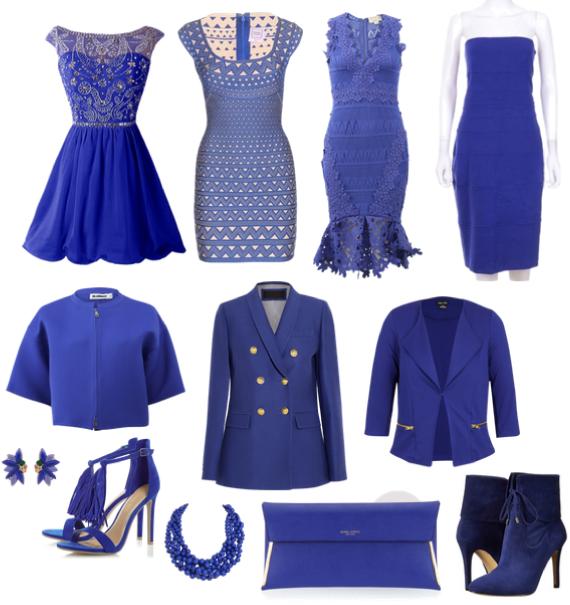 Сине-фиолетовый цвет в одежде фото