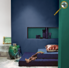 Цвет серо-синий в  интерьере