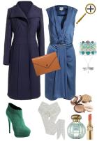 Серо-синий цвет в  одежде