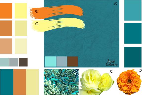 с чем сочетается бирюзовый цвет обоев