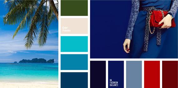 Сочетание цвета с синим