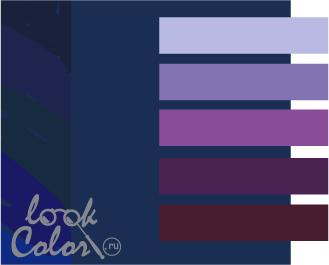 sochetanie temno sinego 12 - Темно синий темно красный