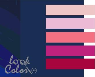 sochetanie temno sinego 5 - Темно синий темно красный