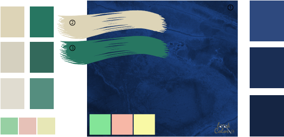 Цвета сочетание синий