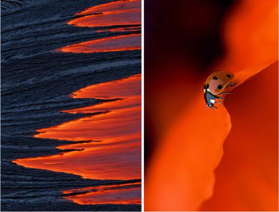 красно-оранжево-черный